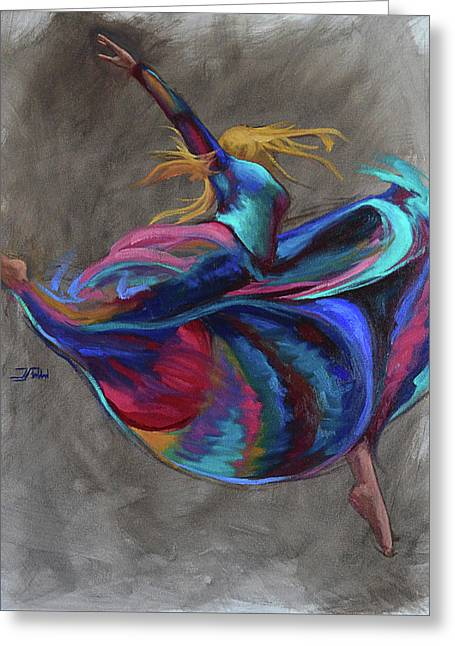Colorful Dancer Greeting Card