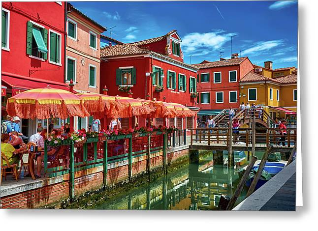 Colorful Day In Burano Greeting Card