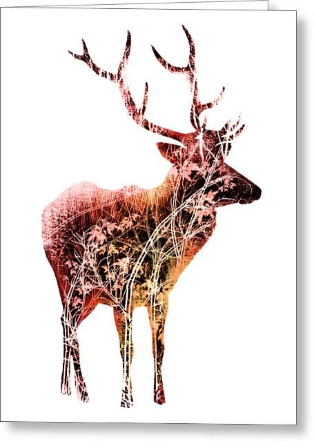 Colorful Deer Art  Greeting Card