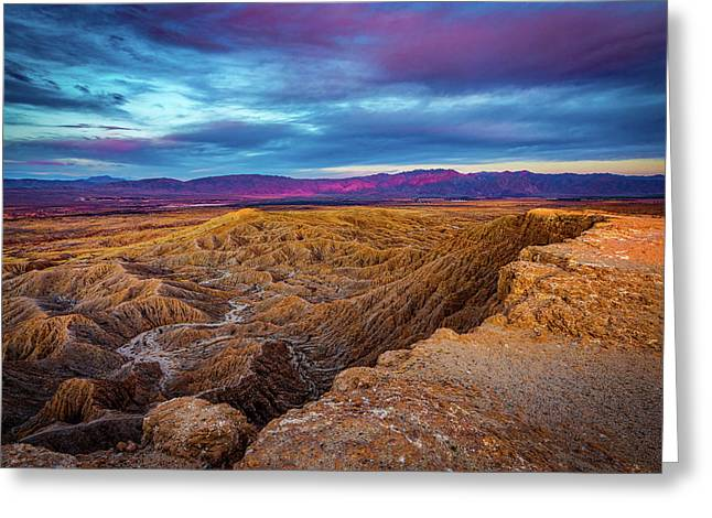 Colorful Desert Sunrise Greeting Card