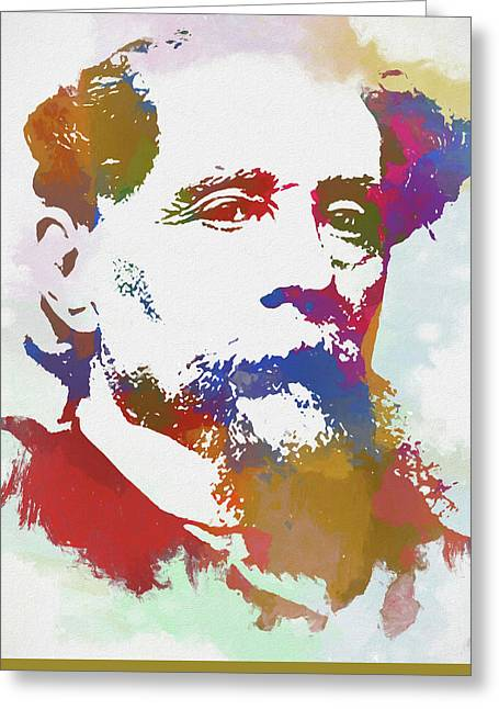Colorful Dickens Greeting Card
