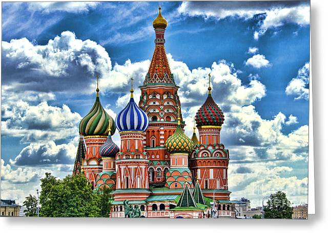 Colorful Domes Greeting Card