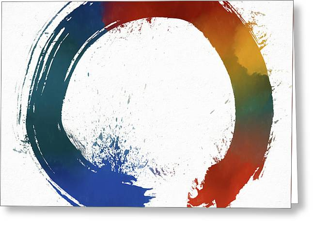 Colorful Enso Greeting Card by Dan Sproul