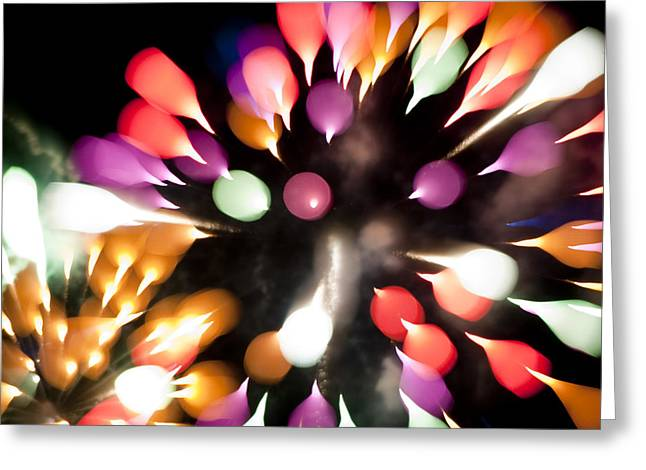 Colorful Explosion K878 Greeting Card by Yoshiki Nakamura