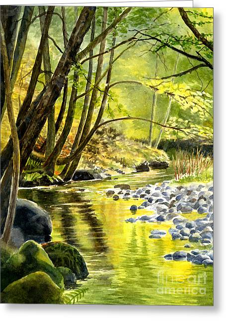 Colorful Fall Reflections In A Stream Greeting Card