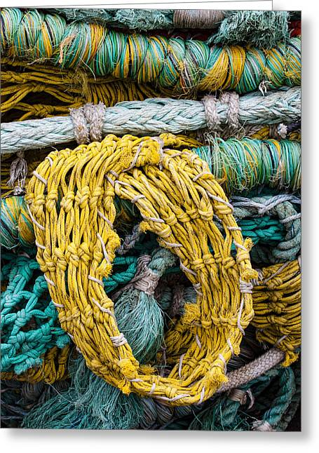 Colorful Fishing Nets Greeting Card by Carol Leigh