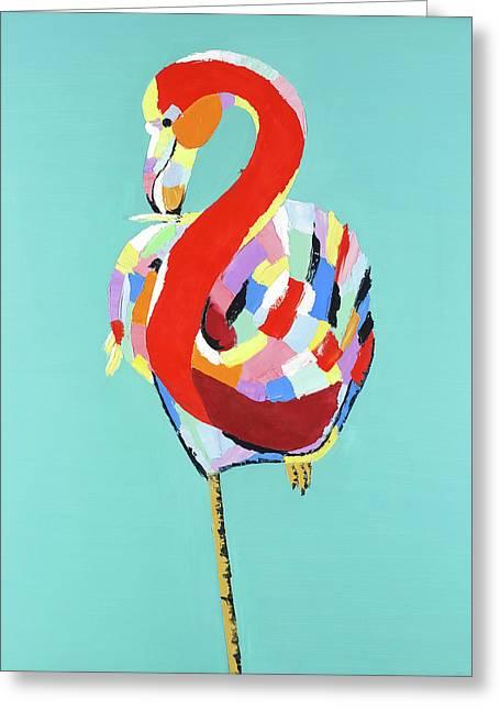 Colorful Flamingo Greeting Card