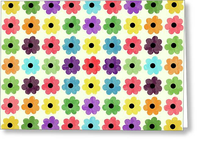 Colorful Floral Pattern Greeting Card