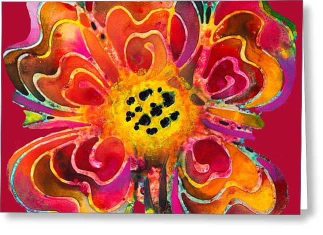 Colorful Flower Art - Summer Love By Sharon Cummings Greeting Card