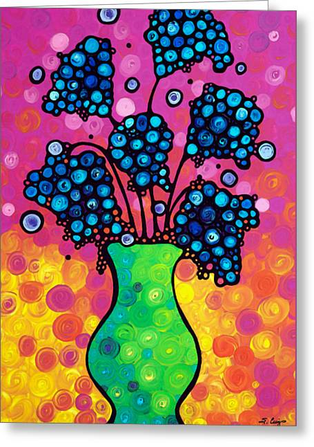 Colorful Flower Bouquet By Sharon Cummings Greeting Card by Sharon Cummings