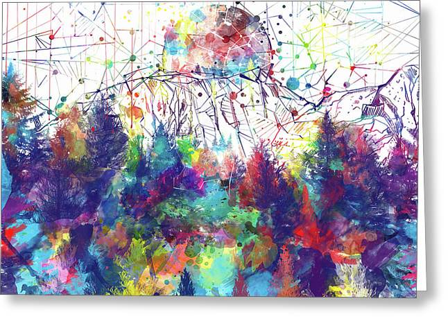 Colorful Forest 2 Greeting Card