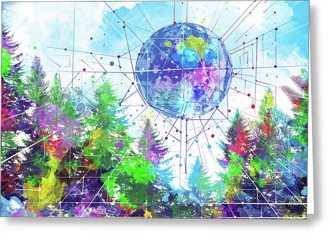 Colorful Forest 3 Greeting Card