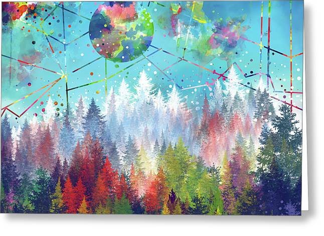 Colorful Forest 4 Greeting Card by Bekim Art