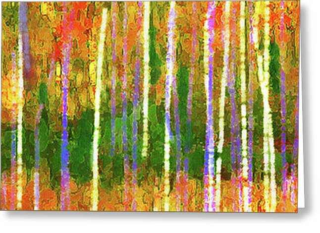 Colorful Forest Abstract Greeting Card