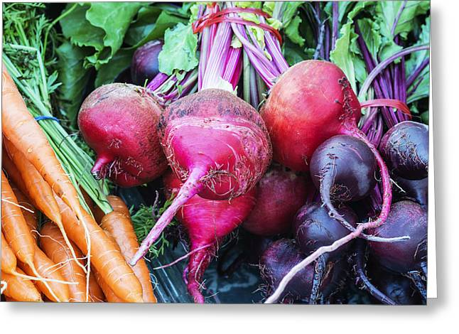 Colorful Fresh Vegetables Greeting Card