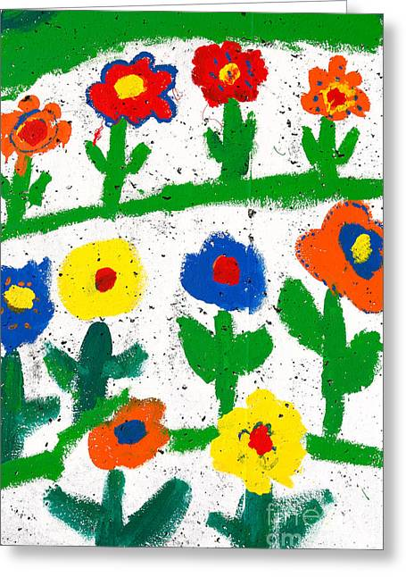 Colorful Garden Greeting Card by Gaspar Avila