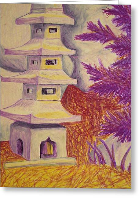 Greeting Card featuring the pastel Colorful Garden by Jean Haynes