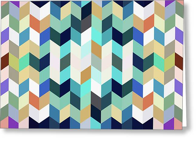 Colorful Geometric Background Greeting Card by Amir Faysal