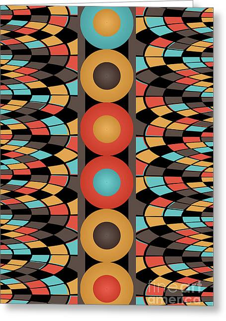 Colorful Geometric Composition Greeting Card