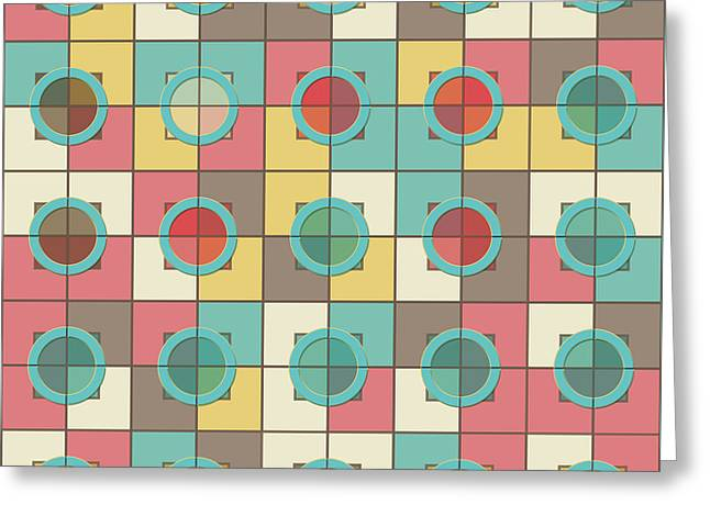 Colorful Geometric Pattern Greeting Card by Gaspar Avila