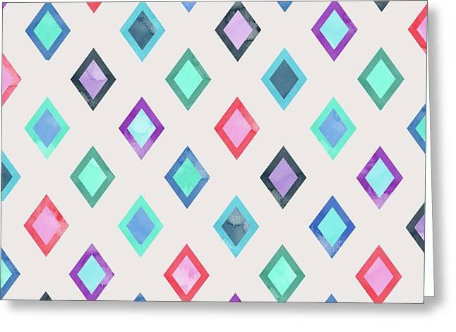 Colorful Geometric Patterns II Greeting Card
