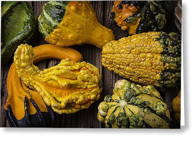 Colorful Gourds Greeting Card by Garry Gay