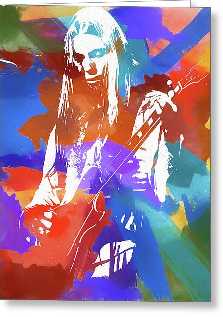 Colorful Gregg Allman Greeting Card