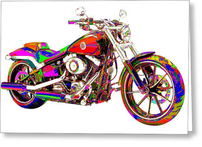 Colorful Harley-davidson Breakout Greeting Card