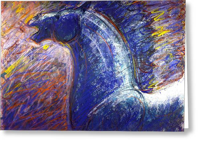 Wild Life Pastels Greeting Cards - Colorful horse Greeting Card by Nato  Gomes