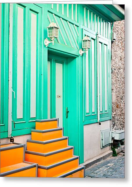 Colorful House Greeting Card by Tom Gowanlock