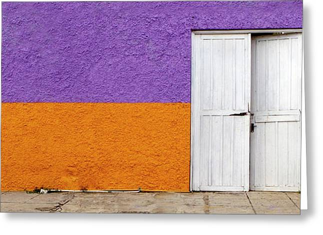 Entrance Door Greeting Cards - Colorful in Negril Greeting Card by Glennis Siverson