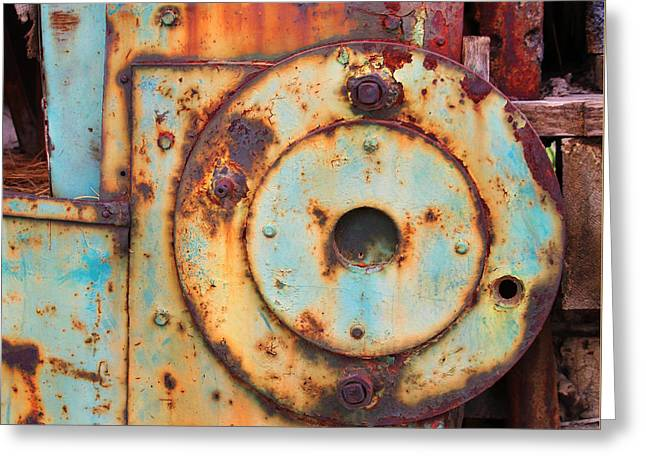 Colorful Industrial Plates Greeting Card