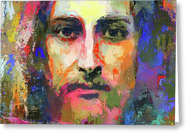 Colorful Jesus Greeting Card