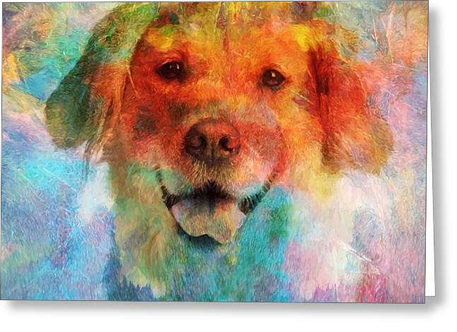 Colorful Lab Greeting Card by Dan Sproul