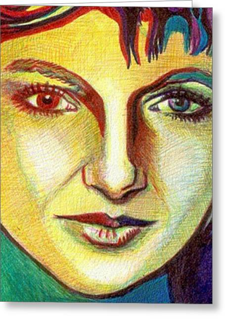 Colorful Lady Greeting Card by Jerry  Stith