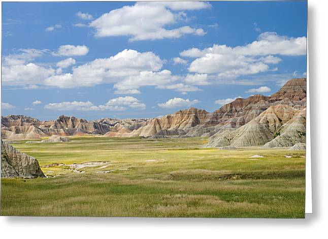 Colorful Landscape In Badlands National Greeting Card by Philippe Widling