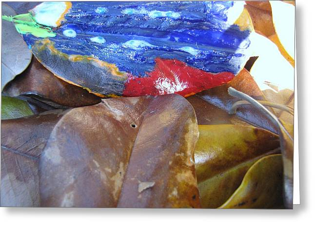 Colorful Leaves Greeting Card by HollyWood Creation By linda zanini