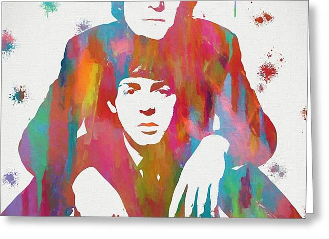 Colorful Lennon And Mccartney Greeting Card by Dan Sproul