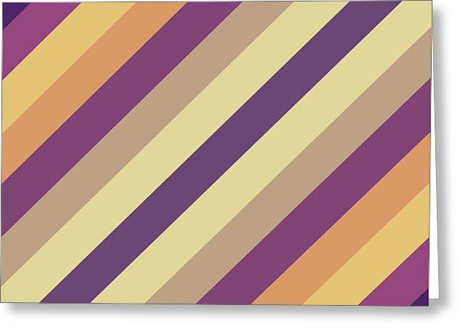 Colorful Lines Greeting Card by Amir Faysal