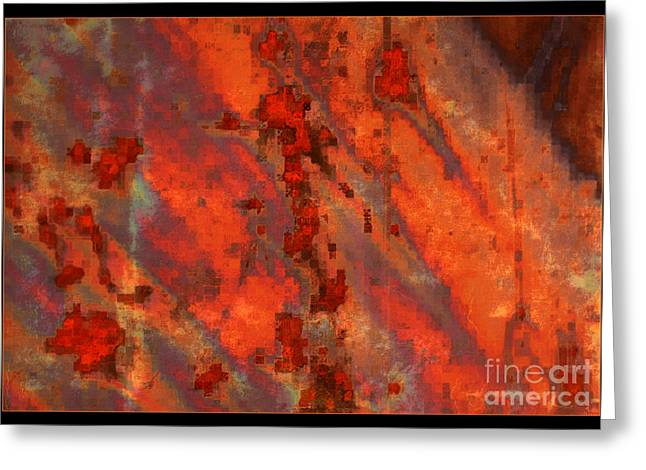 Colorful Metal Abstract With Border Greeting Card