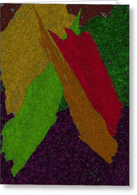 Greeting Card featuring the digital art Colorful by Michelle Audas