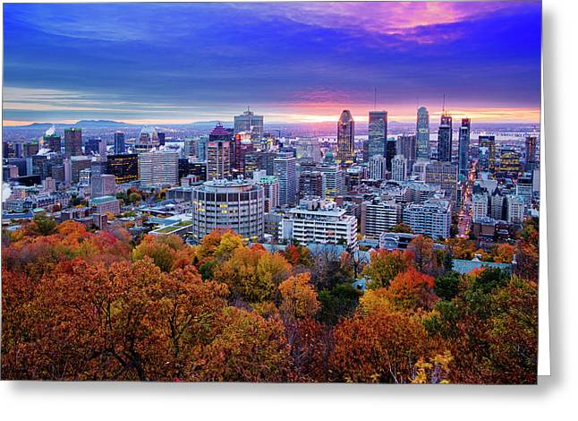 Greeting Card featuring the photograph Colorful Montreal  by Mircea Costina Photography