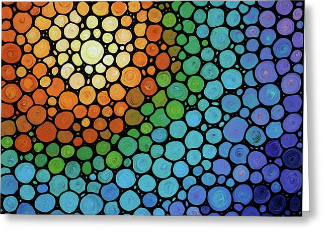 Colorful Mosaic Art - Blissful Greeting Card