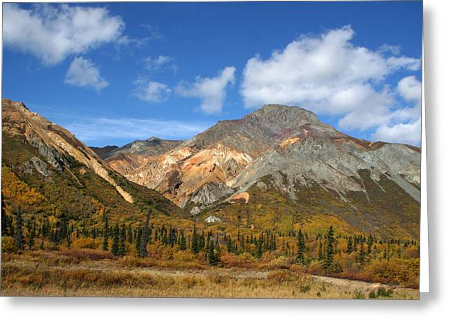 Colorful Mountains Greeting Card by Dave Clark