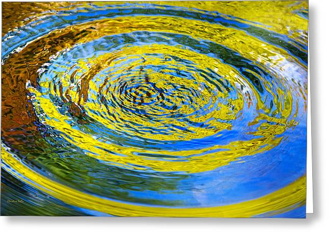 Colorful Nature Abstract Greeting Card by Christina Rollo