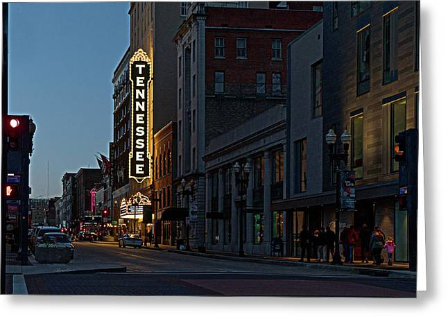 Colorful Night On Gay Street Greeting Card
