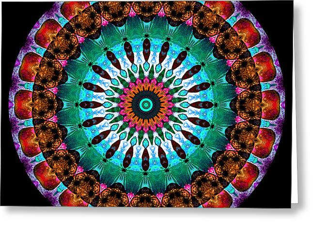 Colorful No. 9 Mandala Greeting Card by Joy McKenzie