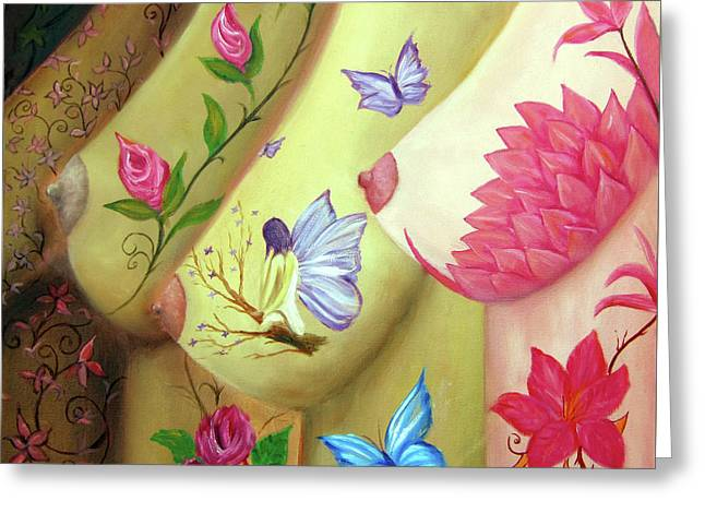 Colorful Palette Greeting Card by Leonardo Ruggieri