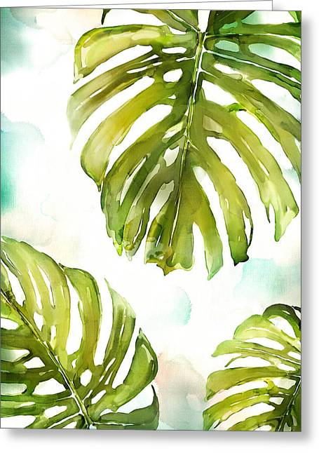Colorful Palm Greeting Card by Mauro DeVereaux