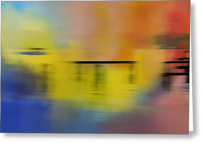 Colorful Panning Boat Greeting Card